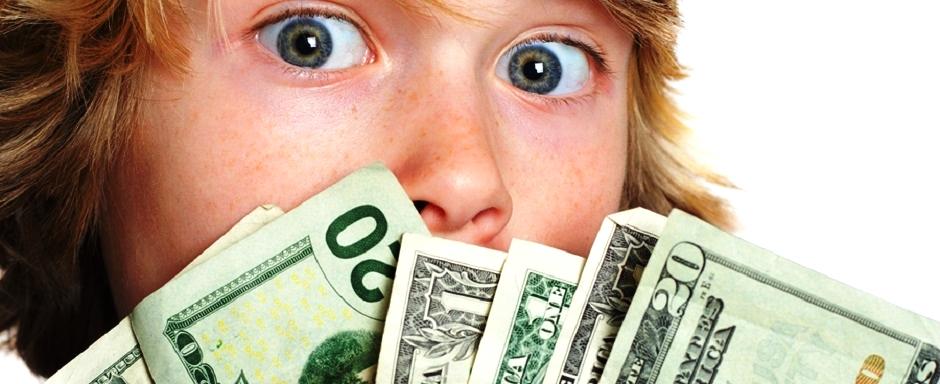 подросток и деньги