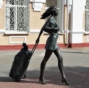 турист на вокзале