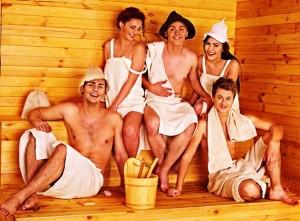 люди в бане